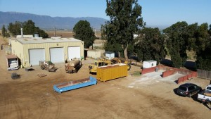Johnson Canyon Landfill buildings and vehicles
