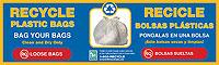 10 x 3 Plastic Bag Recycling Label