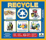 7 x 8 Recycling Bin Label