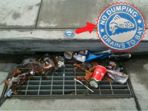 trash in drain