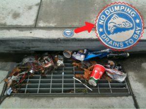trash in drain